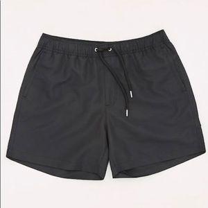 NWT Men's Black Swim Trunks Forever 21